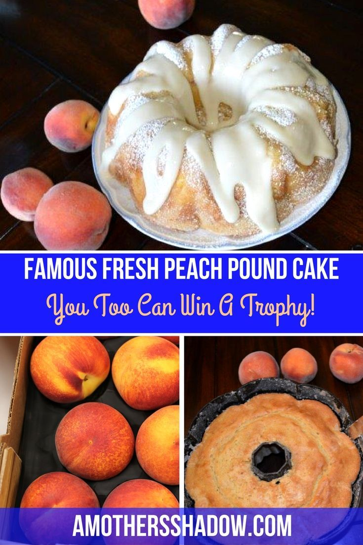 Recipe for fresh peach pound cake that is moist and flavorful. Make ahead for a crowd and tips
