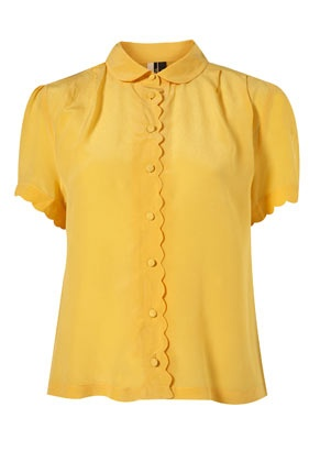 $76 This I totally get. I mean how can you go wrong with a peter pan collar and a scallop-edged placket?