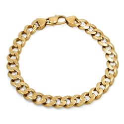 14ct Gold Curb Link Solid Bracelet