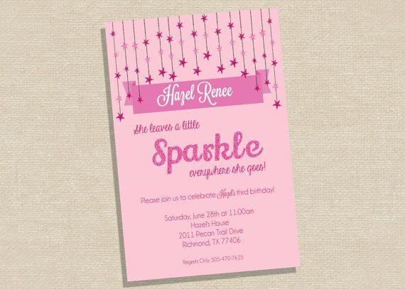 Sparkle Birthday Party  Glitter Birthday Party  by XOXOprintshop, $12.00