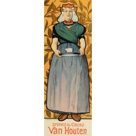 Les Affiches Illustres (1886-1895) 1896 Van Houten Canvas Art - Adolphe Willette (24 x 36)