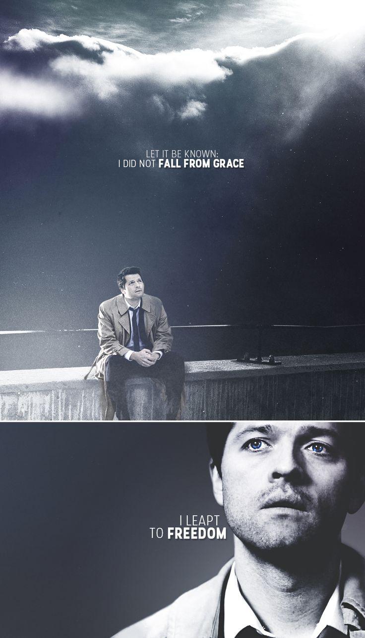 Castiel: I did not fall from grace. #spn