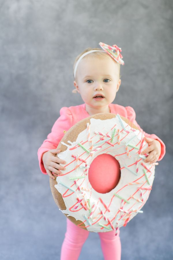 We could just eat this little DIY donut up! http://www.stylemepretty.com/living/2015/10/09/diy-halloween-costume-donut/ | Photography: Ruth Eileen - http://rutheileenphotography.com/