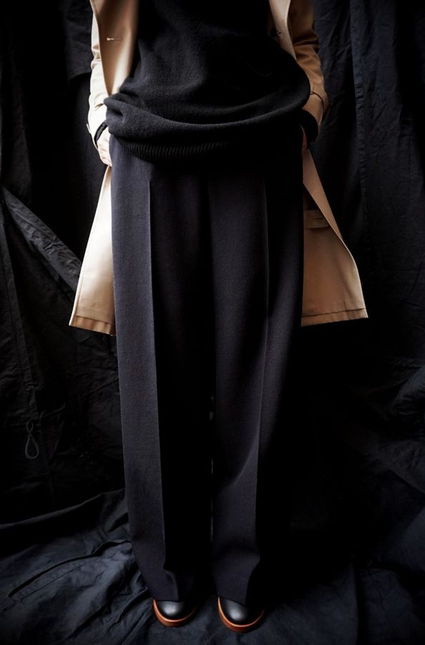 [ beautiful people ] CORRIDALE TWILL SIDE BUCKLE PANTS www.lancah.com