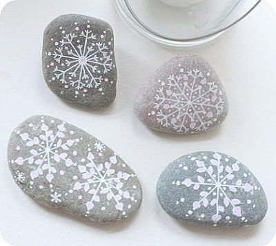 paint some rocks and throw them on a table....use any holiday