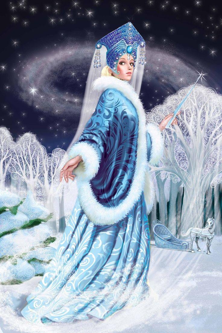 Иллюстрации / Евгения / снежная королева