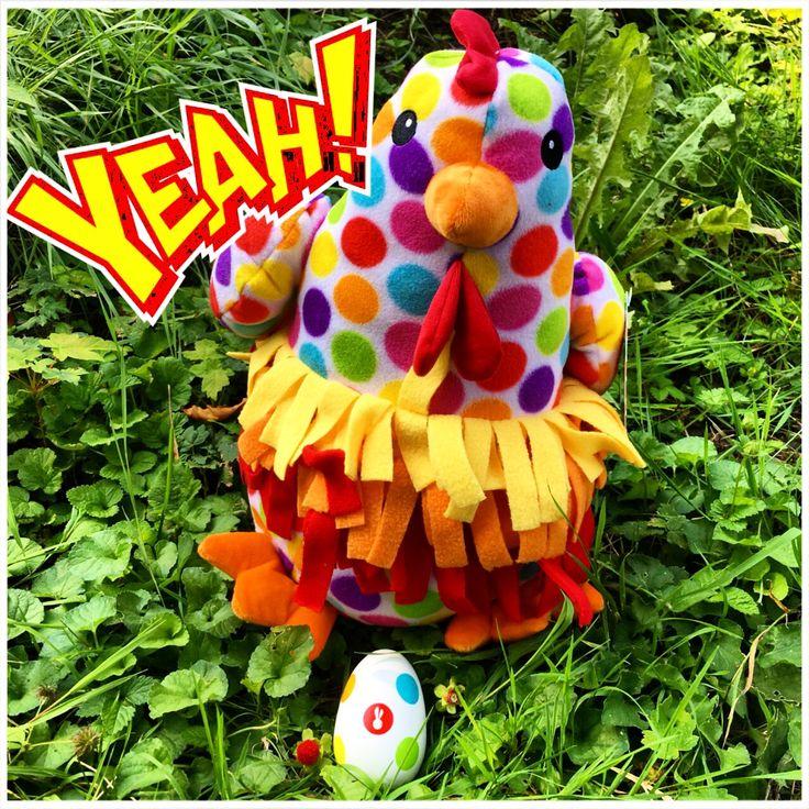 Dotti de kip legt veilige Janod eieren