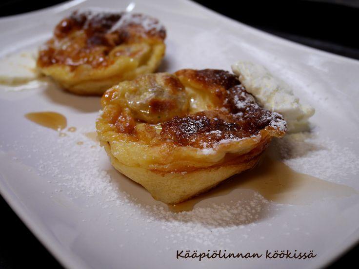 Kääpiölinnan köökissä: Suloisen pienet maapähkinävoi-banaanipannarit ja lehtijuttua SOblogeista!