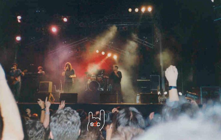 Concert a Terrassa durant la celebració de la Festa Major. Un dels primers concerts de la darrera gira.