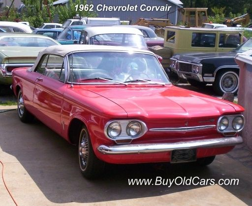 1962 Chevy Corvair - with the push buttons for shifting gears.