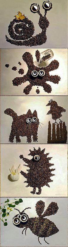 (+1) тема - Картины из зерен кофе   СДЕЛАЙ САМ!