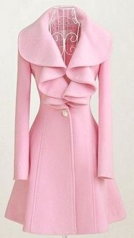 Vintage Pink Dior Coat ~ Would rather it be in black. But this is pretty!