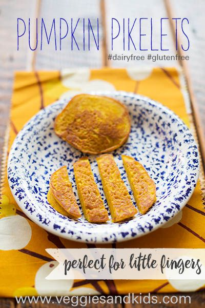 Pumpkin packed pikelets are a great solution as you can make them in advance and store them in the freezer ready for on demand defrosting in the toaster. By cutting them into soldiers they also become a great breakfast dish for babies learning to feed themselves.