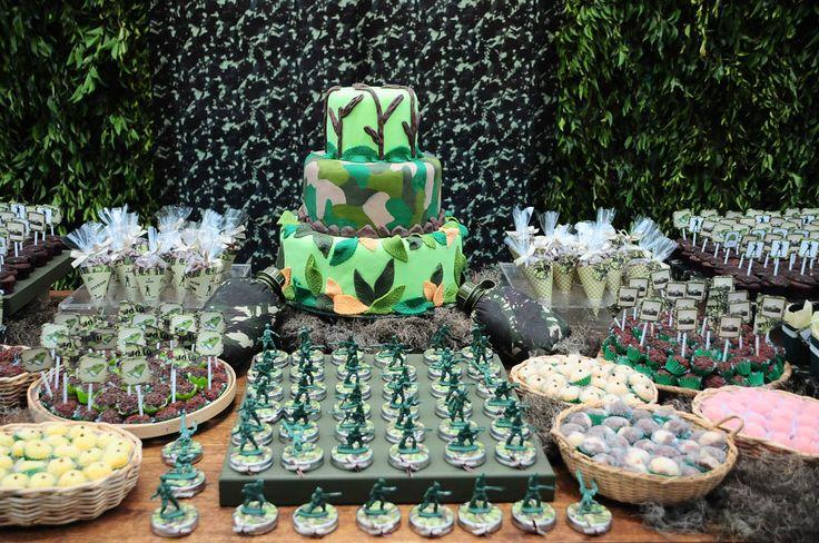 Decoração de Aniversário do Exército – Decoração de Aniversário