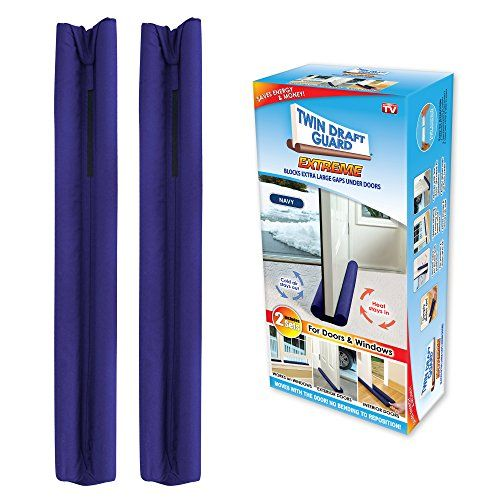 Twin Draft Guard Extreme in Navy - Set of 2 - Energy Saving Under Door Draft Stopper