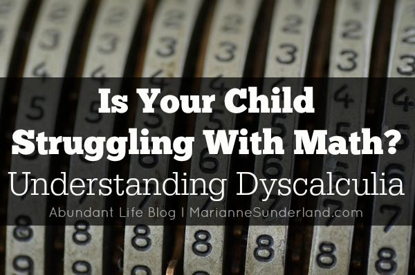 Is Your Child Struggling With Math?  Understanding Dyscalculia  Kids with dyslexia can also struggle with math, known as dyscalculia. With the right teaching methods, kids with dyscalculia can have success with math.