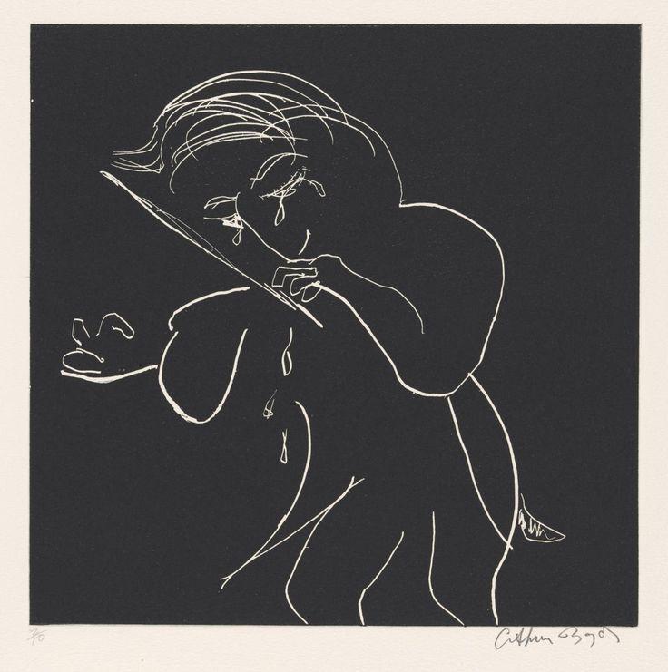 Arthur Boyd - Violin player (etching)
