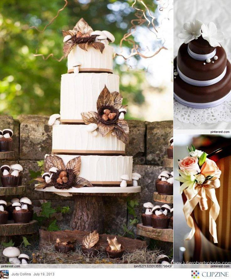 wedding ideas brown ivory and brown wedding cake i that cake happily 28070