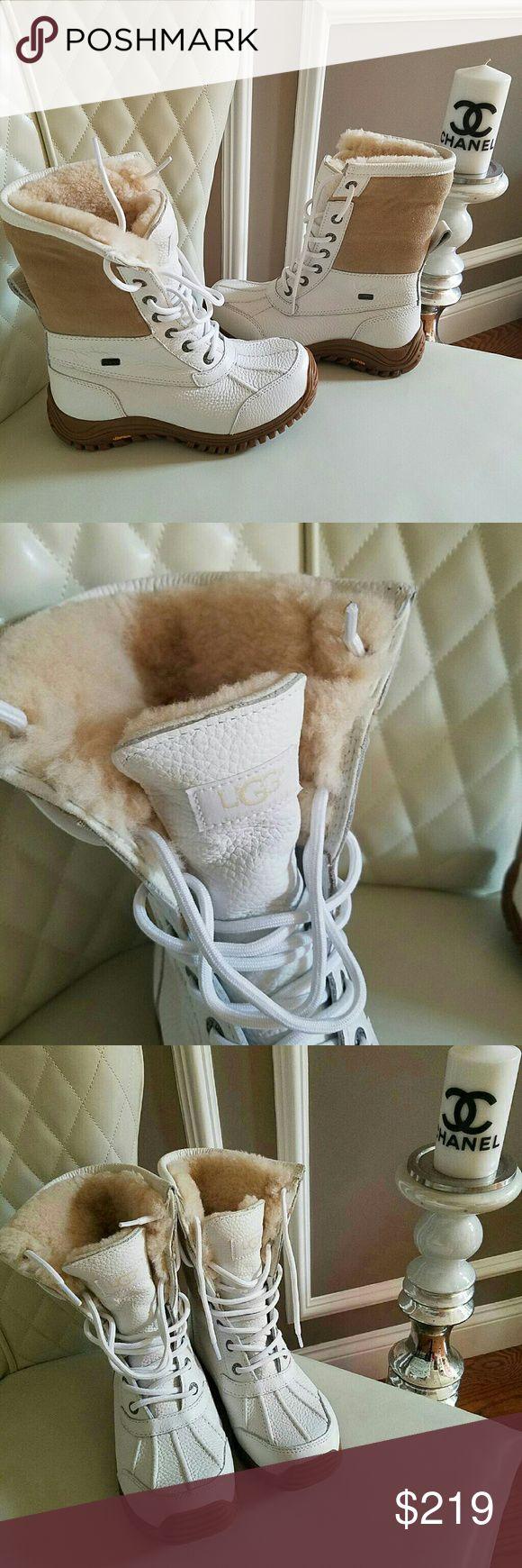 New UGG White Shearling Adirondack II boots size 6 Brand new UGG White Shearling Adirondack II boots size 6 Retail  $350 UGG Shoes Winter & Rain Boots