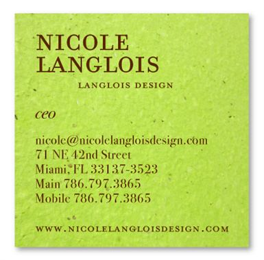 9 best plantable business cards images on pinterest business green brown seeded paper reheart Images