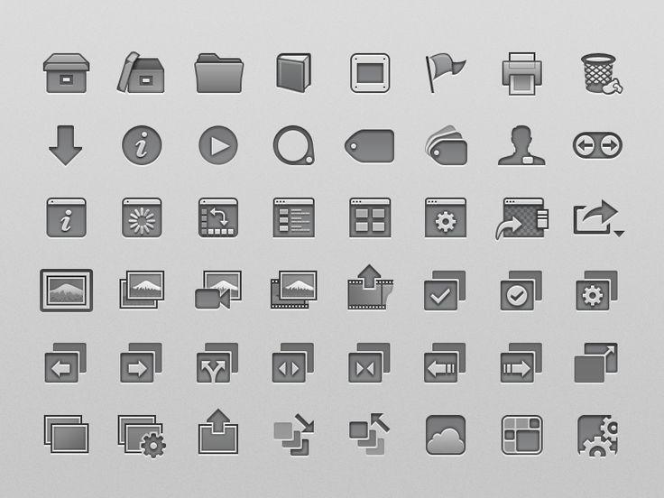 Apple Aperture Toolbar Icons (2012) by Robert Padbury