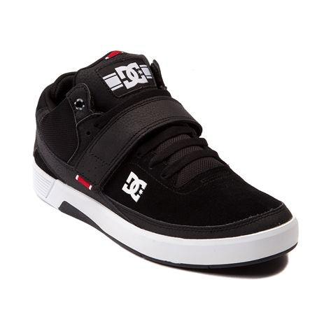 Shop for Mens DC RD X Mid Skate Shoe in Black at Journeys Shoes. Shop today for the hottest brands in mens shoes and womens shoes at Journeys.com.Add in some stylish midtop height to your skate sessions with this signature pro model skate shoe from Rob Dyrdek and DC. The DC RD X Mid sports a durable suedeleather combo upper with ballistic mesh for added breathability, padded collar and tongue for comfort, and lace closure with an athletic-inspired hook and loop strap fastener. The DC RD X…