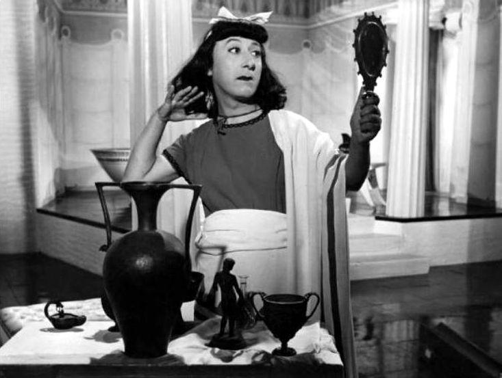"""Macario (Erminio Macario) in Mario Mattoli's """"Adamo ed Eva"""" (English title: """"Adam and Eve"""", 1949), also starring Isa Barzizza."""