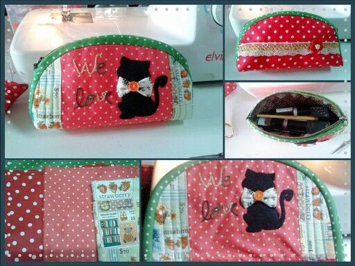 Cosmetics bag We love cat.