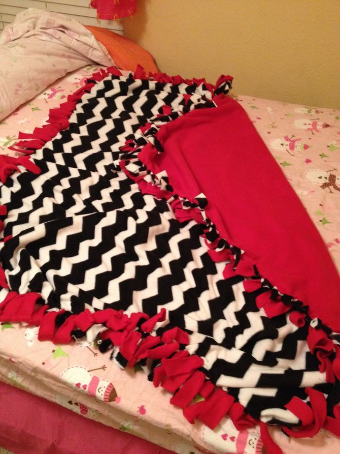 How to Make a Fleece Tie Blanket: 15 Steps (with Pictures)