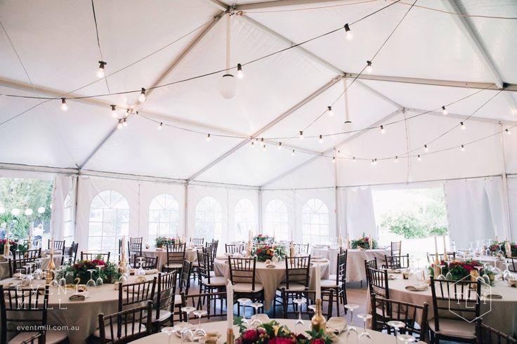 Festoon lighting #festoon #lighting #wedding #backdrop #pretty #reception #hanginglights #party #sitdowndinner