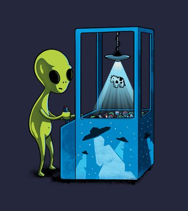 Abduction game by Naolito is an alien shirt.