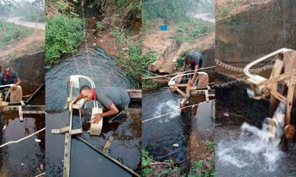 Wow Nigerian University Graduate Constructs Hydro-Electric Power Plant That Generates Electricity For An Entire Village (Photos) | Naijafastlink: