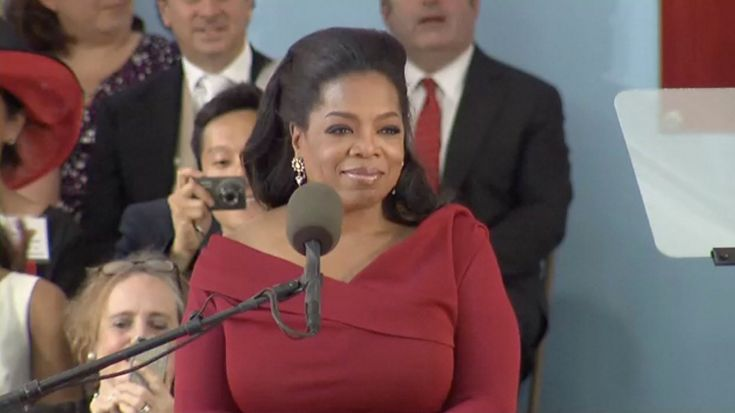 """Find out what makes you alive."" Oprah's inspiring Harvard commencement speech about coping with failure, yearning for validation, building your story, finding your calling, collecting pocket change for positive change and ""banishing darkness with light."""