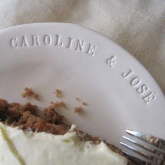 Custom Wedding Cake Plates by Paloma's Nest