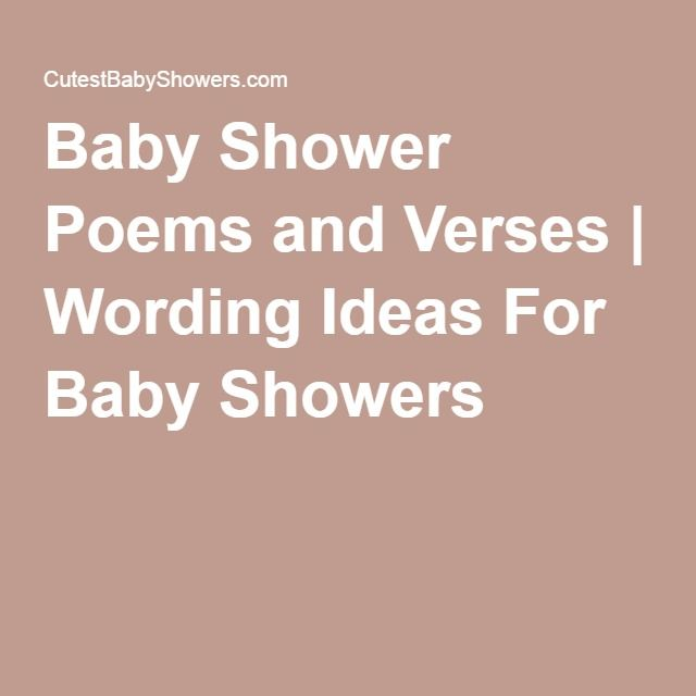 Clever Baby Shower Poems And Verses