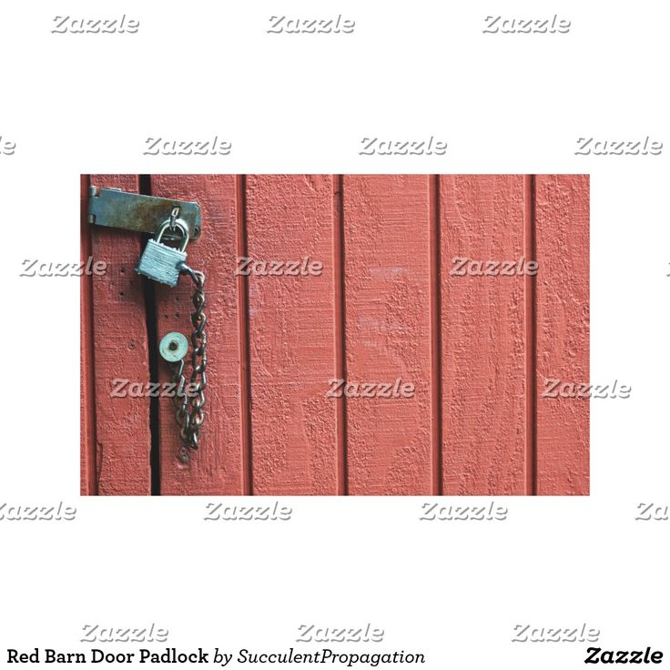Red Barn Door Padlock Psychedelic Trippy 3D Lilly Flower Wrapped Canvas Art For Your Home, Office, Gifts and Wall Decor.