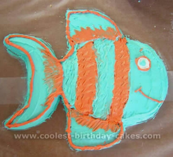 98 Best Fishing Birthday Theme Images On Pinterest: Best 25+ Fish Birthday Cakes Ideas On Pinterest