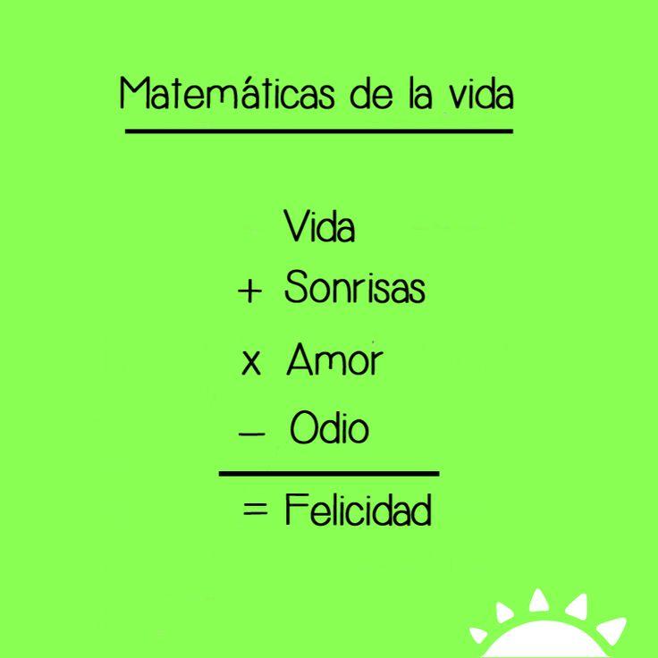 Las matemáticas de la vida son así de simples # ...