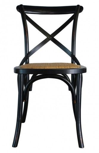 *Cross Back Chair - Black - Canalside Interiors
