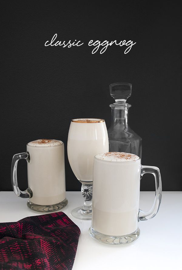 a roundup of classic cocktail recipes and glassware on coco+kelley   classic eggnog