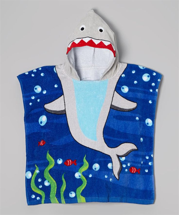 Hooded Towel Shark | Baby Boy Swimwear | Vitamins Baby