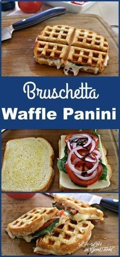 Waffle Iron Hacks and Easy Recipes for Waffle Irons - Bruschetta Waffle Panini - Quick Ways to Make Healthy Meals in a Waffle Maker - Breakfast, Dinner, Lunch, Dessert and Snack Ideas - Homemade Pizza, Cinnamon Rolls, Egg, Low Carb, Sandwich, Bisquick, Savory Recipes and Biscuits diyjoy.com/...