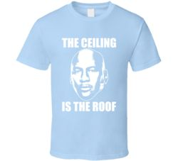 Ceiling Is The Roof Goat Michael Jordan Quote Face T Shirt