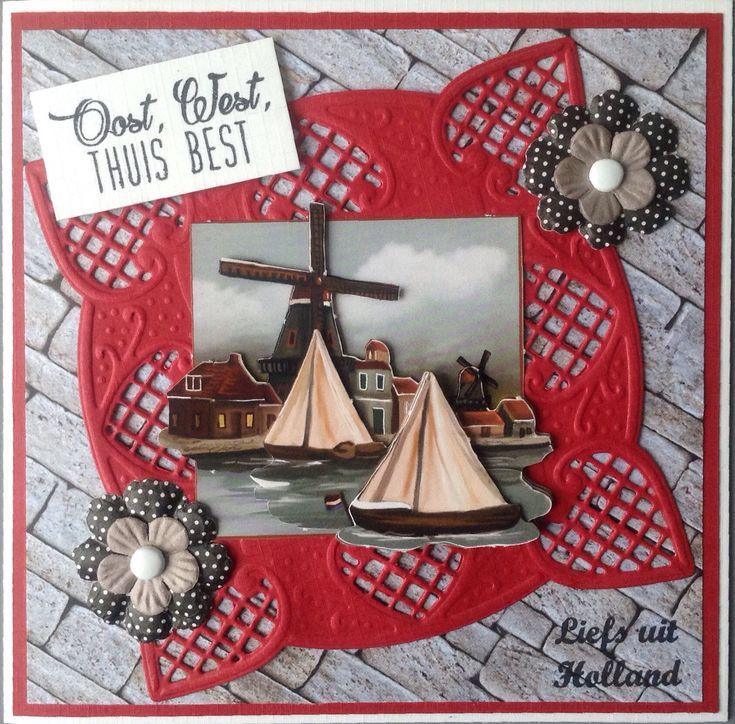 Oost, west, thuis, best met Hollands tafereel van Amy Design Oud Hollands
