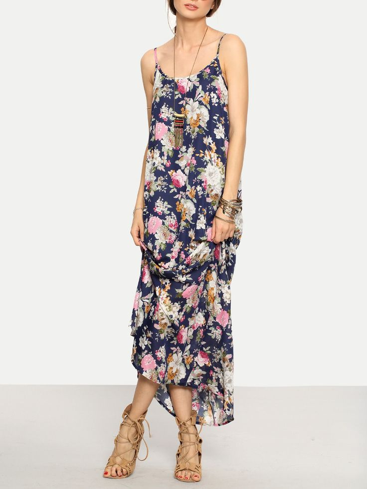 Shop Cami Straps Floral Print Maxi Dress online. SheIn offers Cami Straps Floral Print Maxi Dress & more to fit your fashionable needs.