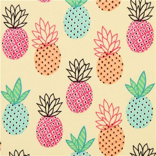 Bb 8 Cute Wallpaper Cute Yellow Pineapples Fruit Fabric By Timeless Treasures