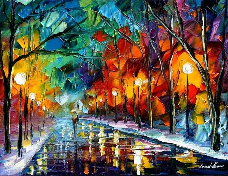 ... painting 2011 :: Modern impressionism palette knife oil painting kp155
