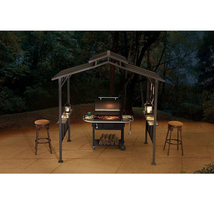 Kiosk Grill Outdoor 8′ x 5′ Yard Gazebo Tent Garden