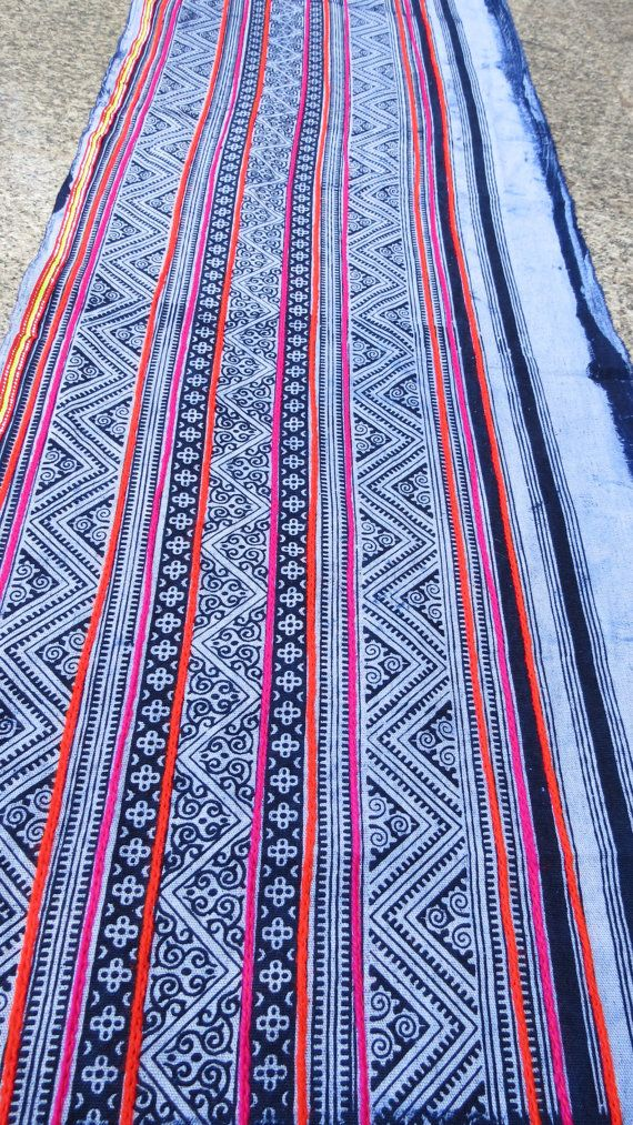 Handwoven Batik Cotton Hmong Vintage textiles and by dellshop, $24.99