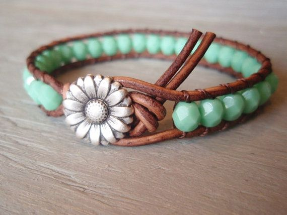 Boho leather wrap bracelet